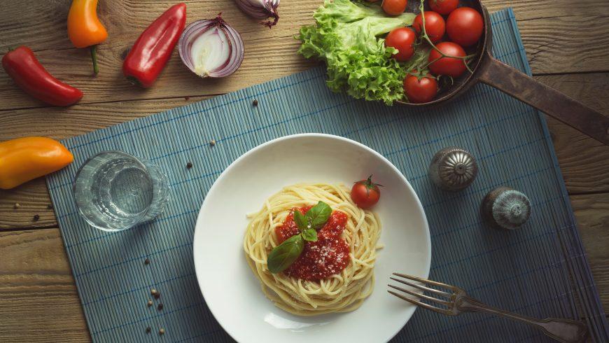 spaghetti, vegan main dish
