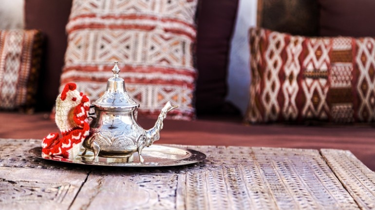 Traditional Moroccan kettle.