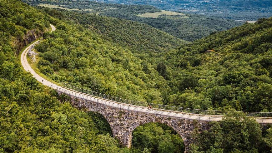 cycle itinerary from Trieste to Croatia