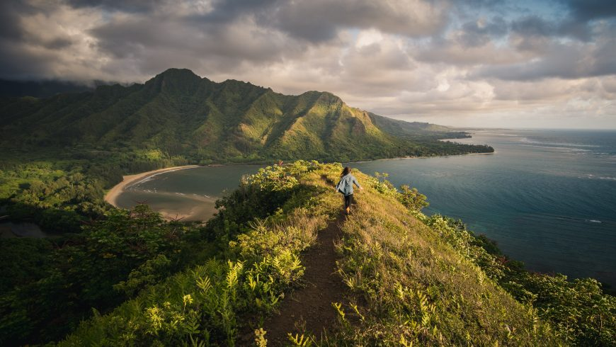 Ecotourism in the US, Hawaii, Moody Hiking