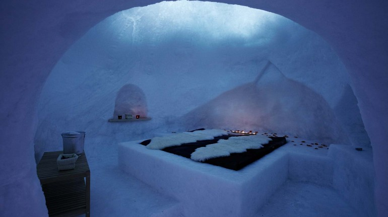 valentine's day in an igloo