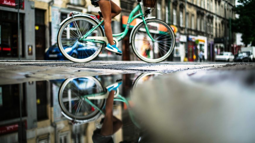 Moving by bicycle is a good way to reduce your impact on the environment