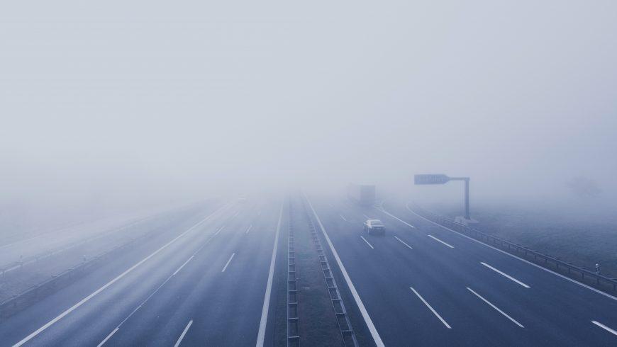 street with fog