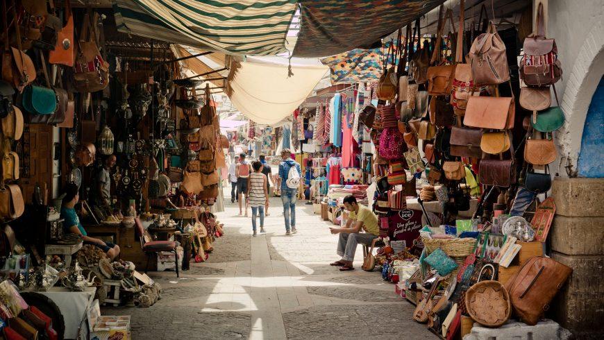 Souk in the Medina, Morocco.