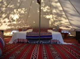 glamping at yoga retreat centre