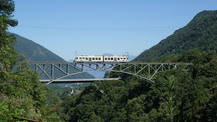 Vigezzina-Centovalli, panoramic train in the Piedmont Alps