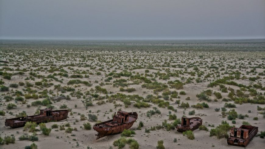Old fishing boats, Aral Sea