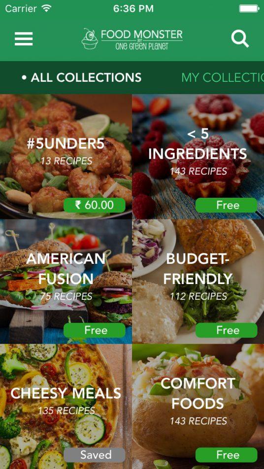 Food Monster App for vegans