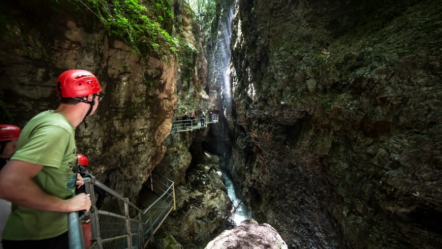 In Val di Non you can walk in mid-air through the canyons of Val Novella