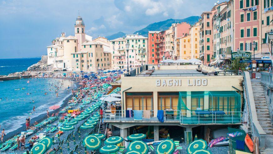 Camogli, Liguria, seaside path