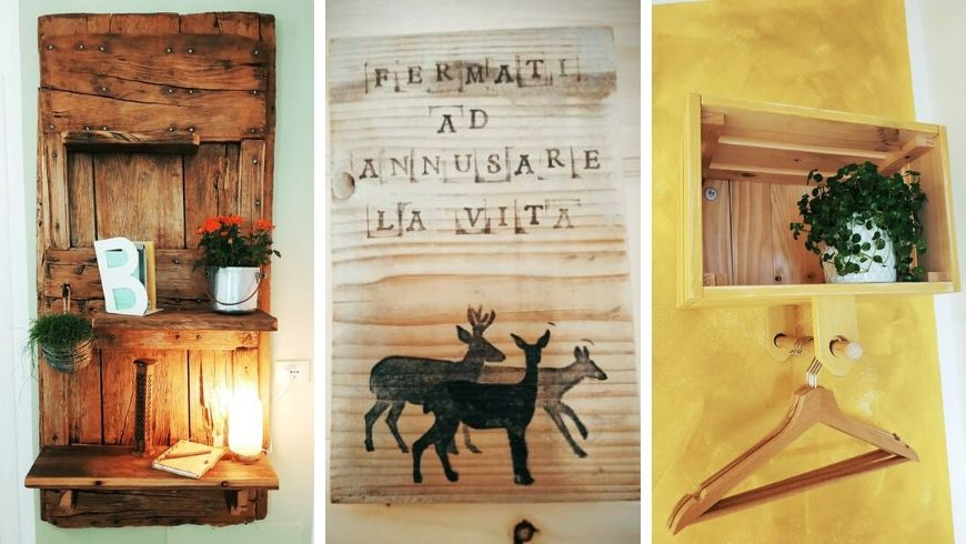 Examples of creative recycling at Ecobnb botton d'oro