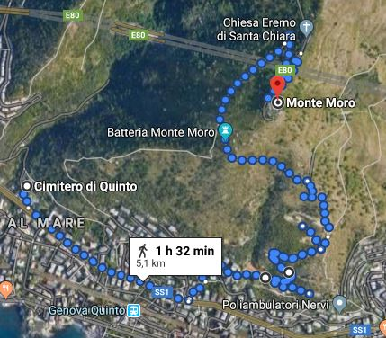 Monte Moro, map
