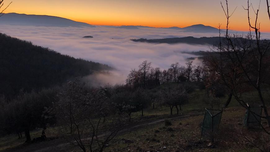 Sunset, Umbria