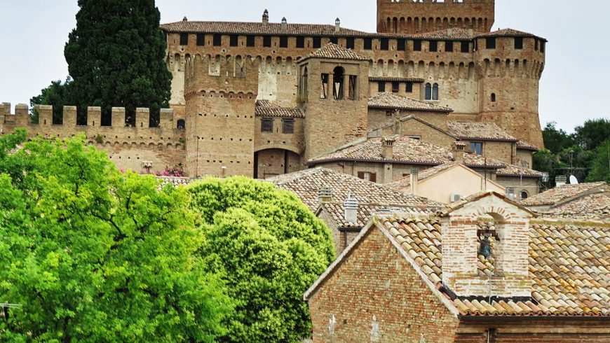 Gradara Castle, which was the backdrop to the tragic love between Paolo and Francesca described by Dante