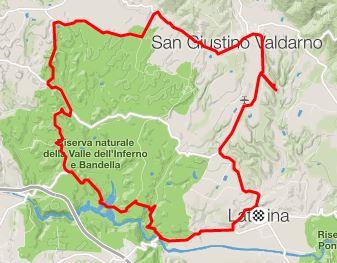 Valle dell'Inferno, itinerary via Strava