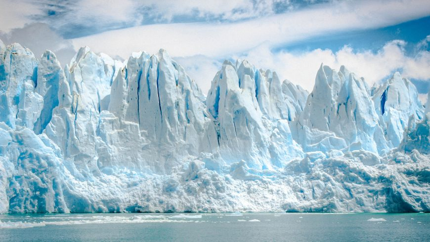 the melting of arctic ice, one of the 9 tipping points