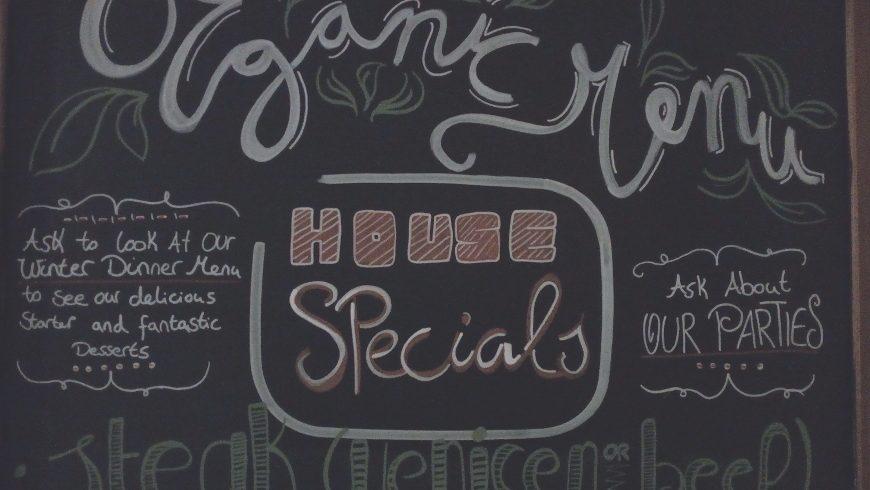 organic menu of Three Tower Eco House