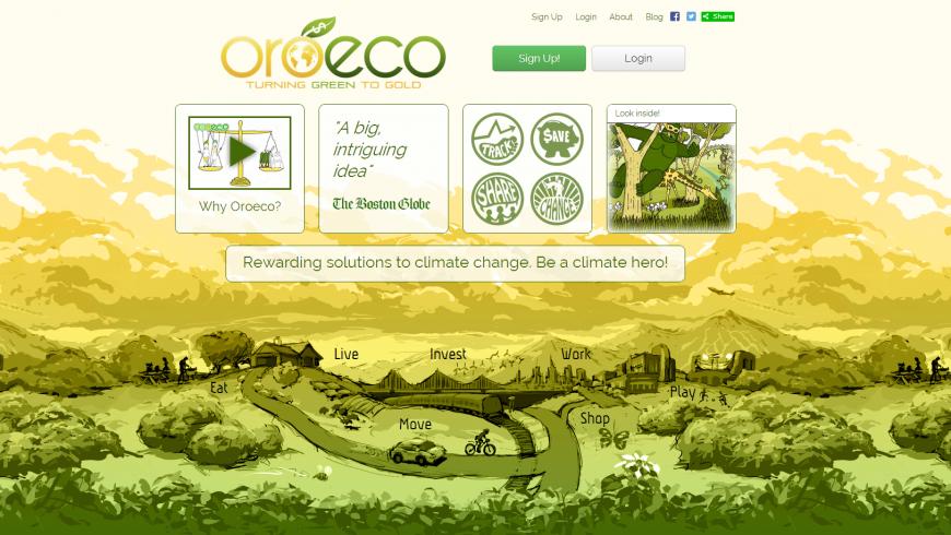 Oreco, eco-friendly apps