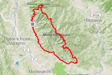 Setteponti and Pratomagno, itinerary via Strava