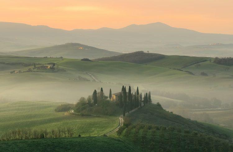 Tuscany, green fields