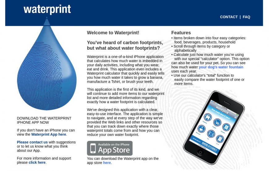 waterprint one of the best eco-friendly apps