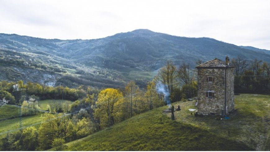 ancient tower in italy