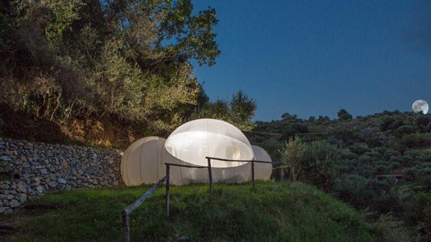 green hotel bubble room italy