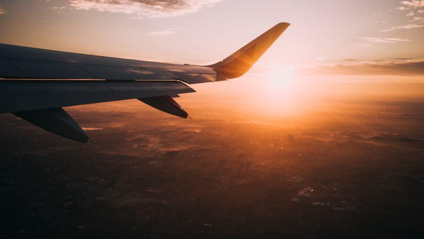 airplane sunset tourism