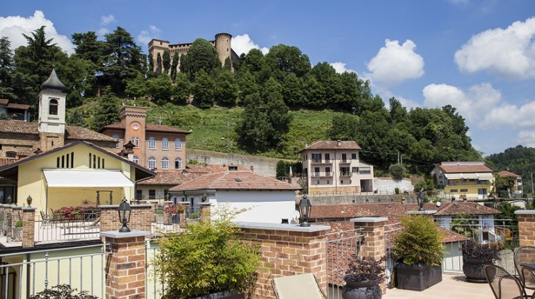 Your apartment in the Langhe with a castle view