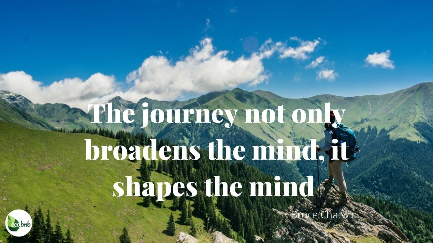 The journey shapes the mind