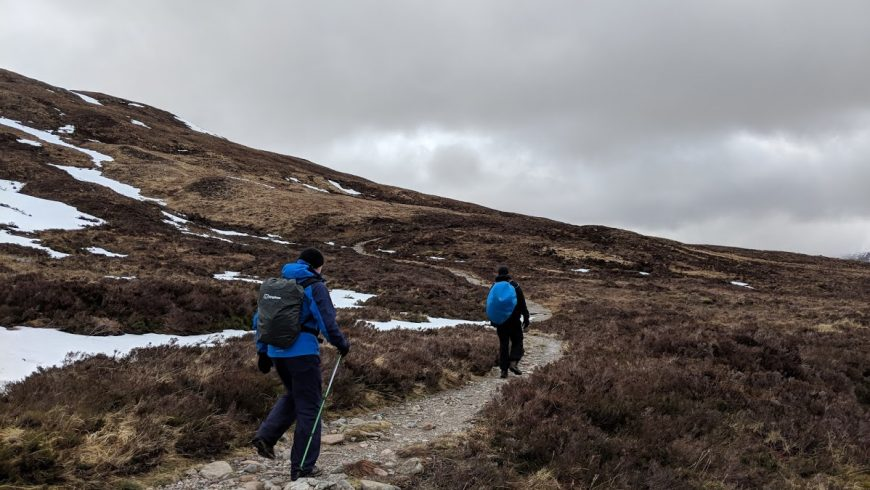 on foot along West Highland Way