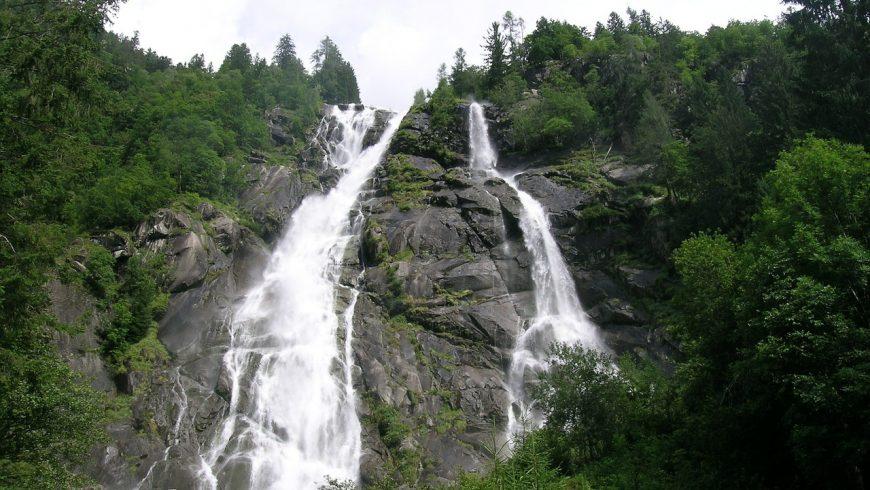 The Nardis Falls, in Adamello Brenta Geopark