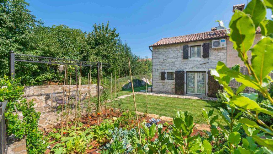 Eco villa Gašparini Istria - organic garden