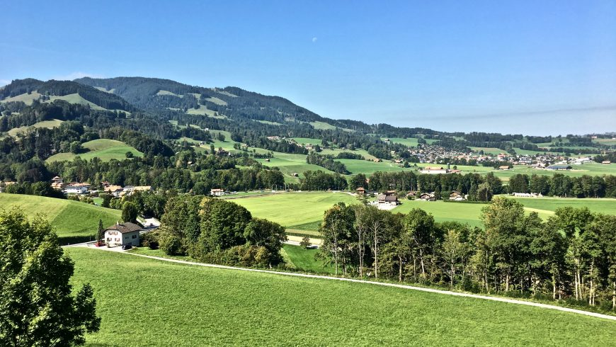 green landscape with clean air