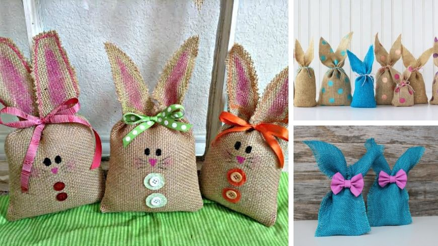easter decorations burlap bunnies