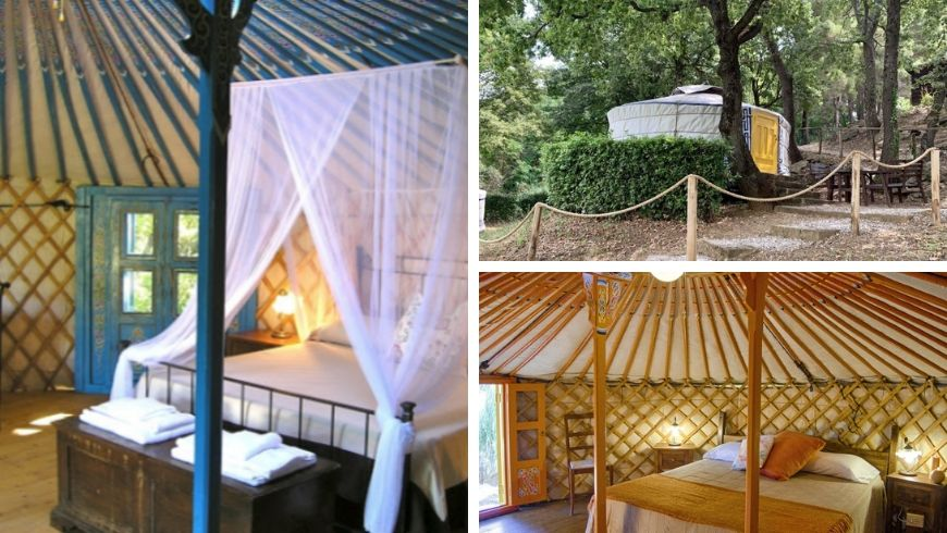 colorful yurt in italy ecobnb