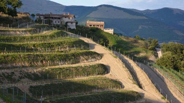 A farmhouse on the hills of Gubbio