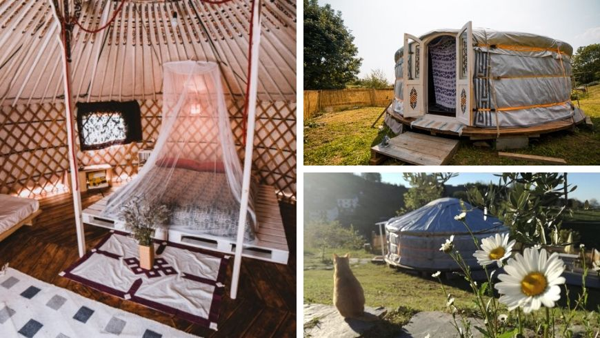 yurt in northern italy ecobnb