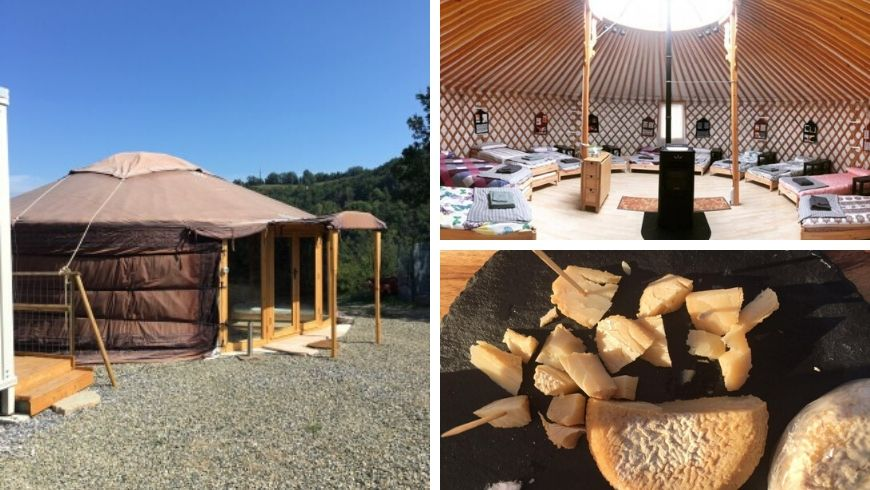 yurt and organic food in italy