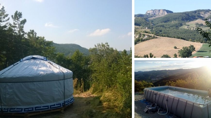 yurt in italy ecostay