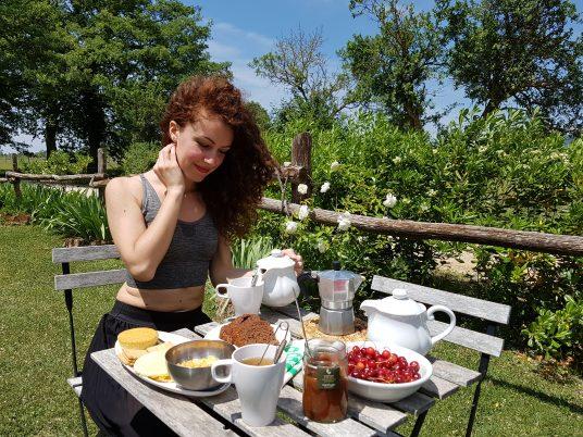 Ecobnb Sant'Egle Breakfast in the garden