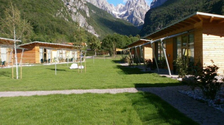 wood chalets in Camping La Spiaggia