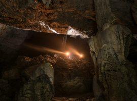 Cave under Predjama Castle