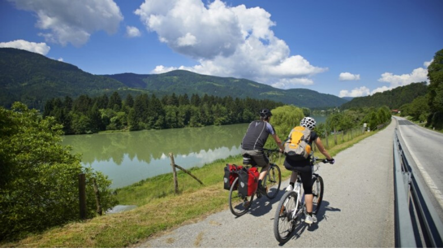 Carintia region is very famous for branched biking trails in the valley or surrounding hills