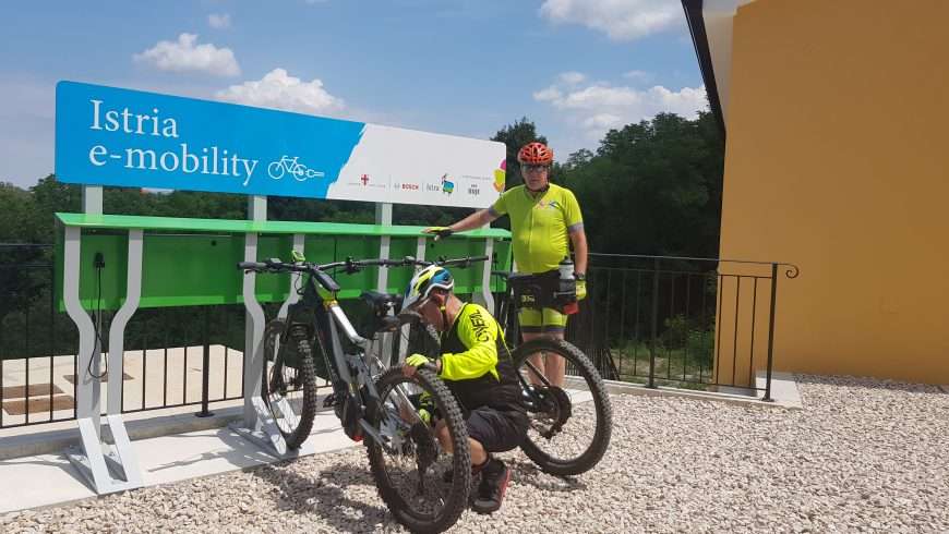 e-bike harging stations in Istria