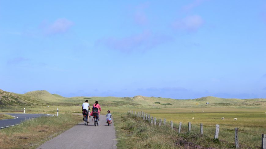 eco-traveling by bike with kids