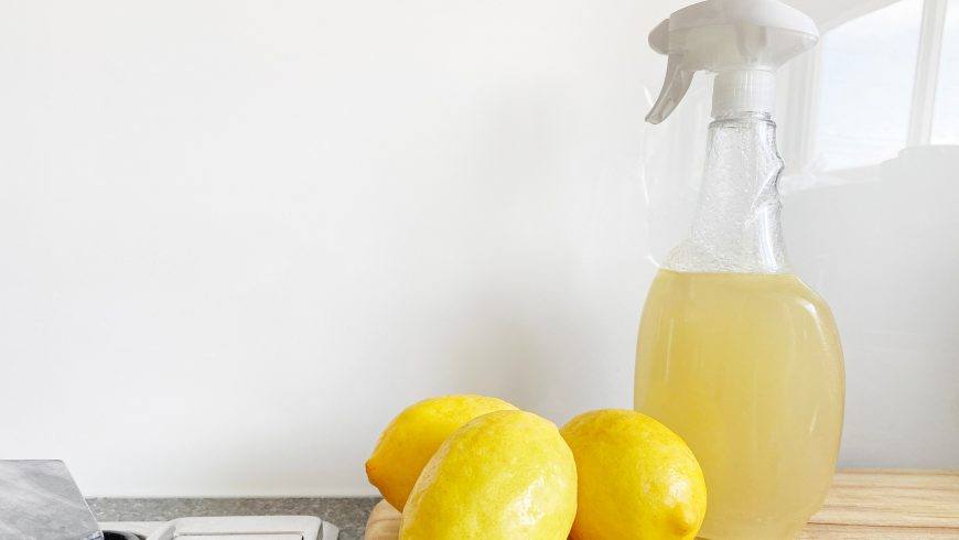 lemon natural cleaning product