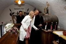 Castle wine cellar