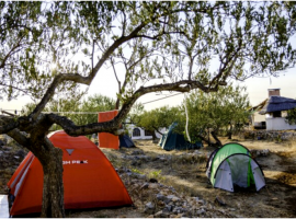 space for your own tent or campervan at the Gea Viva Eco Island Retreat