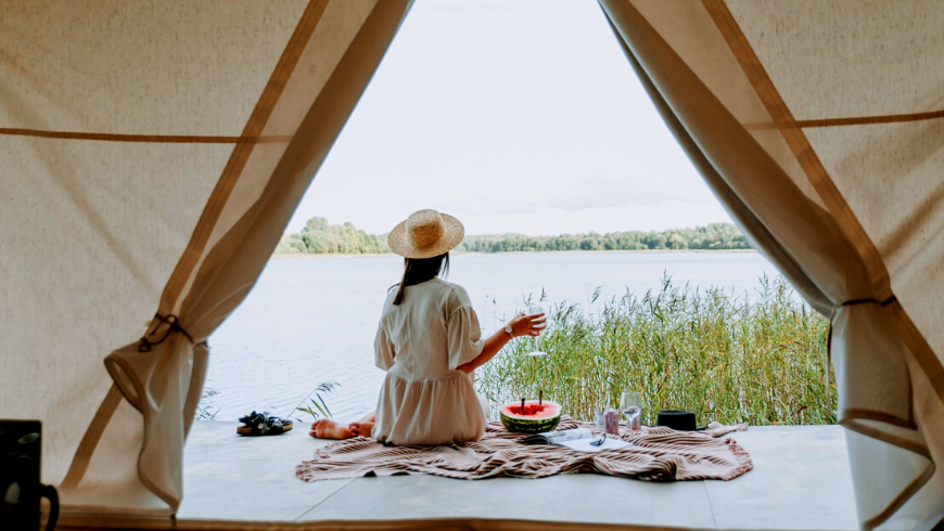 What is eco-glamping? It is a gren glamorous camping!